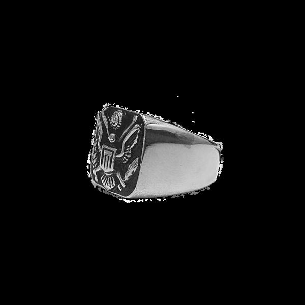 טבעת איגל כסופה תמונת צד