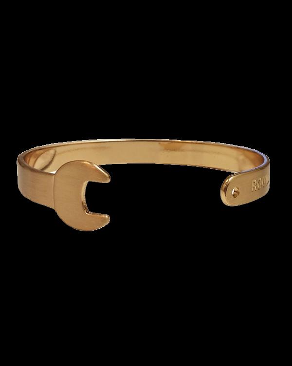 צמיד מפתח ברגים בצבע זהב