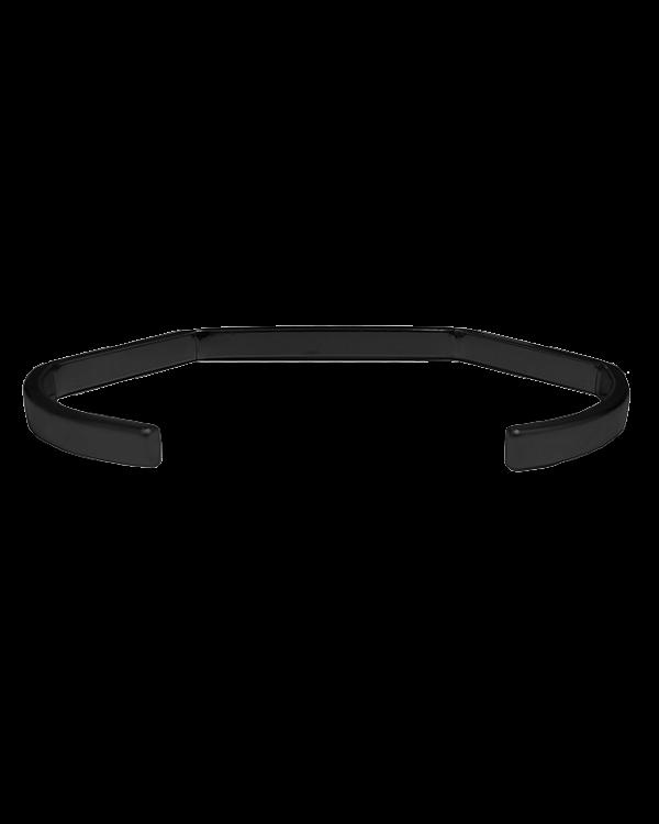צמיד מתכת בעל צורה חדה בצבע שחור