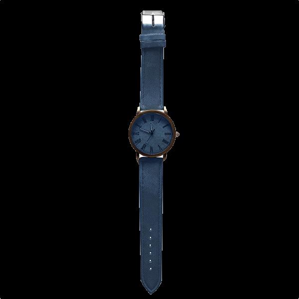 שעון ג'ינס כחול תמונה רחוקה