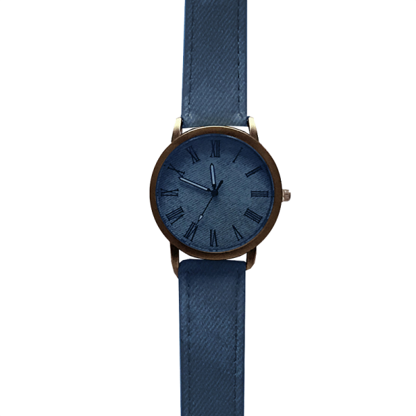 שעון ג'ינס כחול