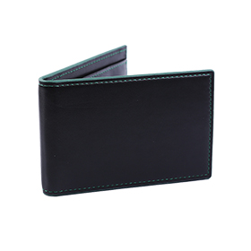 ארנק כרטיסים נפתח בצבע שחור ירוק