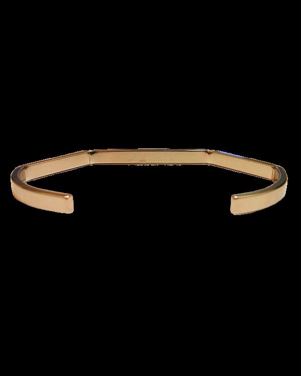 צמיד מתכת בעל צורה חדה בצבע זהב