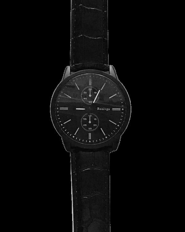 שעון ווגה שחור תקריב